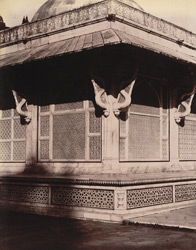 Close view of south-west angle of Shaikh Salim Chishti's Tomb, Fatehpur Sikri